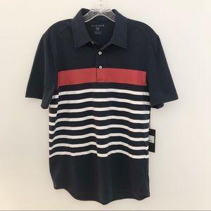 Five Four Melendez Stripe Patriotic Polo Shirt
